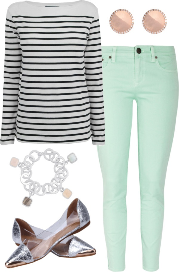 """""""mint jeans   outfit four"""" by boxandbrownie on Polyvore"""