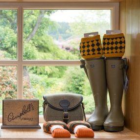 Campbells-menswear-le-chameau-boots-and-socks