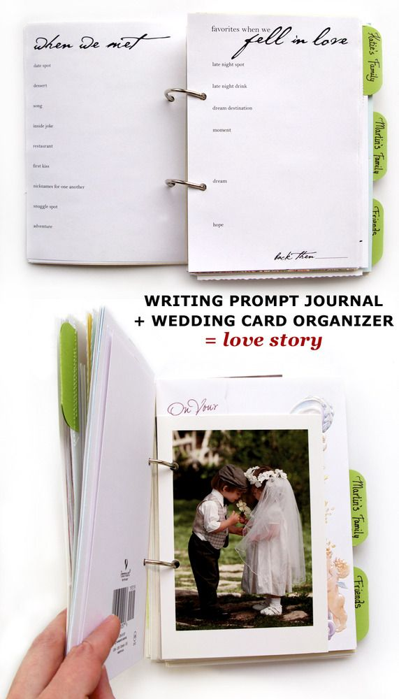 what to do with your wedding cards! wedding card album. Cute idea. Maybe I'll have different tabs for engagement, shower, and wedding.