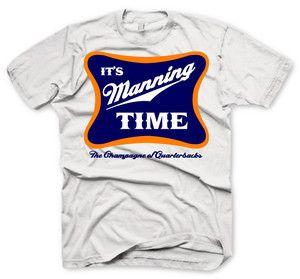 Yes it is!! Denver Broncos Shirt Peyton Manning Jersey It's Manning Time Football Shirt | eBay