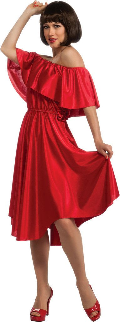 Saturday Night Fever Red Dress Adult Costume Includes: Dress. Weight (lbs) 0.81 Length (inches) 14.5 Width (inches) 12 Height(inches) 1.25                                                                                                                                                                                 More