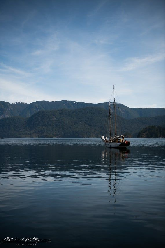 Landscape Photography Vancouver Deep Cove Canada Boat Mountain Water Fine Art Photo Print Picture Jigsaw Canvas Landscape Photography Fine Art Photo Prints Photography