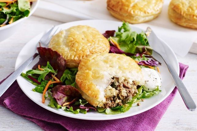 Beef, fetta and eggplant parcels