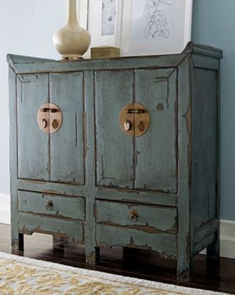 Love this distressed Asian-style chest