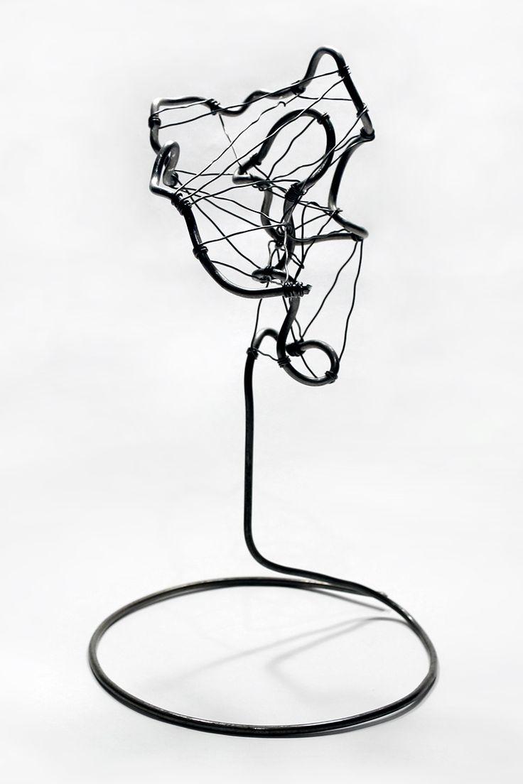 Abstract №2. Hand Made wire art work (steel - diameter 3.0 / 0.7 mm) --- #abstract #surreal #wire #art #artwork #artsy #artworks #wireart #wiresculpture #sculpture #wirework #handmade #figure #forms #geometry #geometric #homedecor #design #artdeco #artdecor #originalworks #creative #original #strange #fineart #modernart #metalart