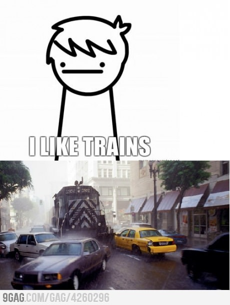 My friend said that, and at the exact time, somebody got run over by a train. Just kidding, or was I?