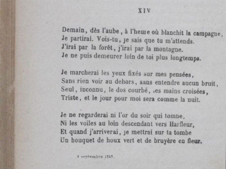 Le tome I des Œuvres complètes de Victor Hugo éditées par la librairie Ollendorff, ouvert sur le texte associé - Demain, dès l'aube, à l'heure où blanchit la campagne... Le célèbre poème des Contemplations de Victor Hugo dit par Pierre-François Kettler.