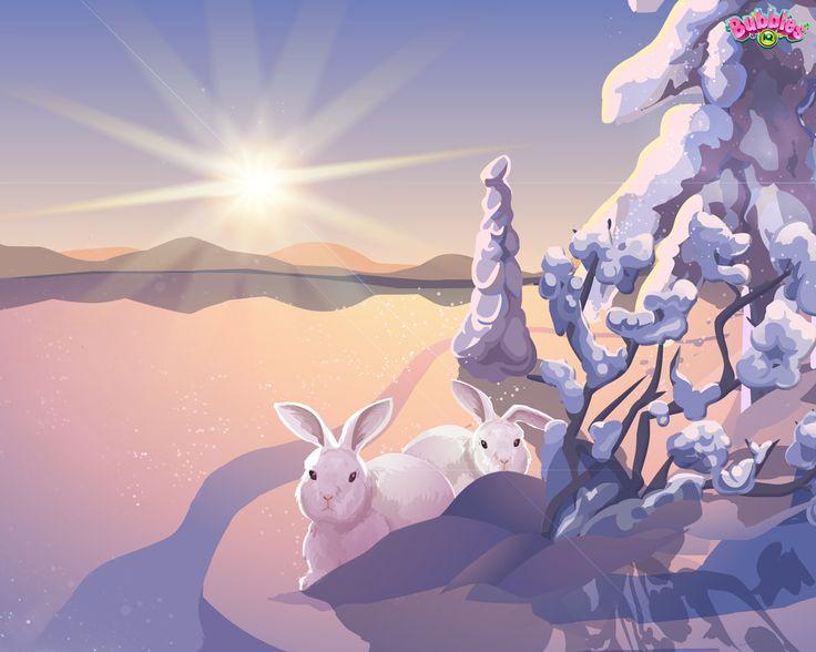 Winter theme. Check out our latest backgrounds & themes and join the bubble poppin' fun! Play #BubblesIQ: www.bubblesiq.com