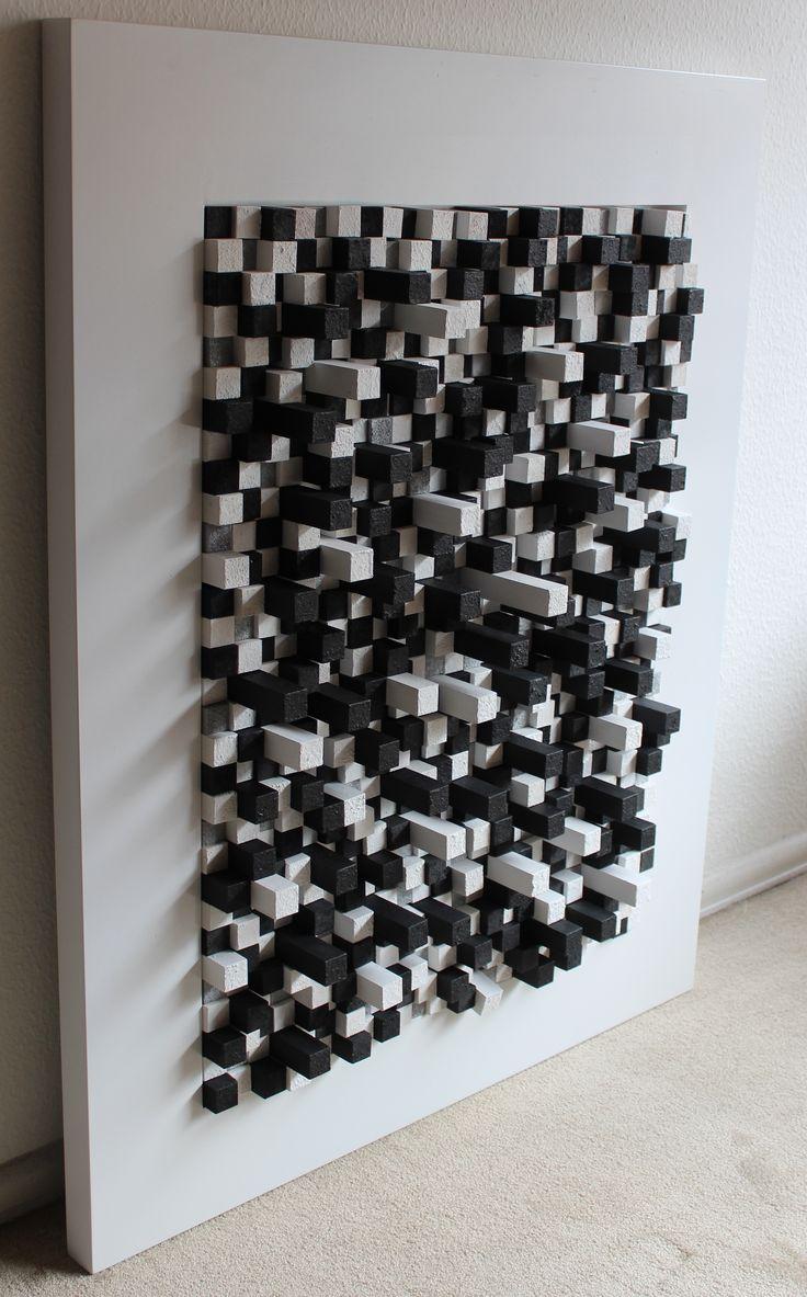 Spin blanco y negro construccion de cubos de madera de 2 - Cubos de madera ...