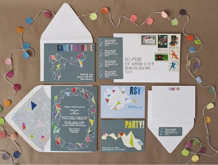 111 best Geometric Invitations images on Pinterest Weddings - fresh invitation card ulop
