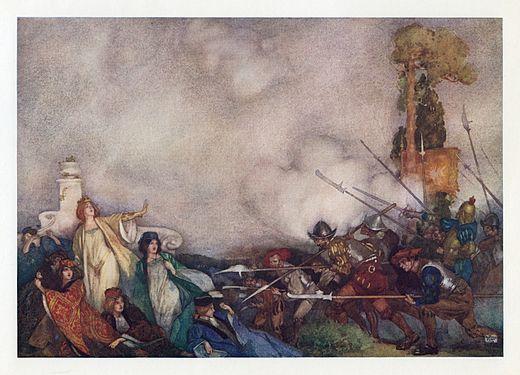 Sir William Russell Flint, Scottish painter and illustrator. Watercolour
