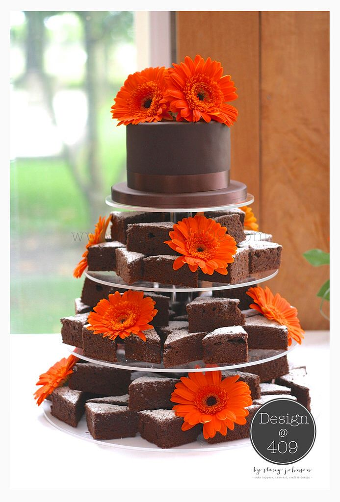 Brownie cake for wedding
