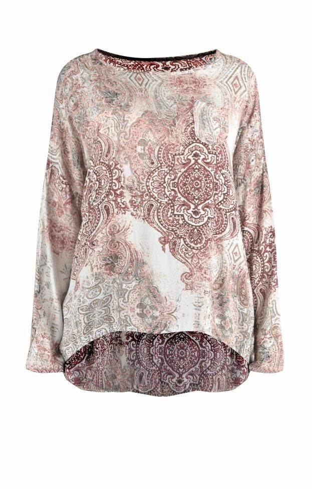 Γυναικεία μπλούζα εμπριμέ | Μπλούζες - Μπλούζες και πουκάμισα -