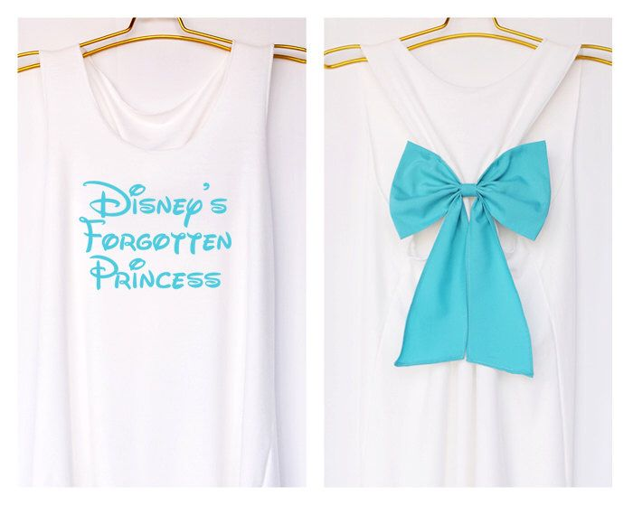 Disney's forgotten Princess Tank Premium with Bow : Workout Shirt - Keep Calm Shirt - Tank Top - Bow Shirt - Razor Back Tank by DollysBow on Etsy https://www.etsy.com/listing/204450707/disneys-forgotten-princess-tank-premium