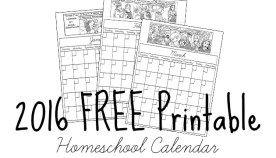 Free Printable Homeschool Planner for 2016