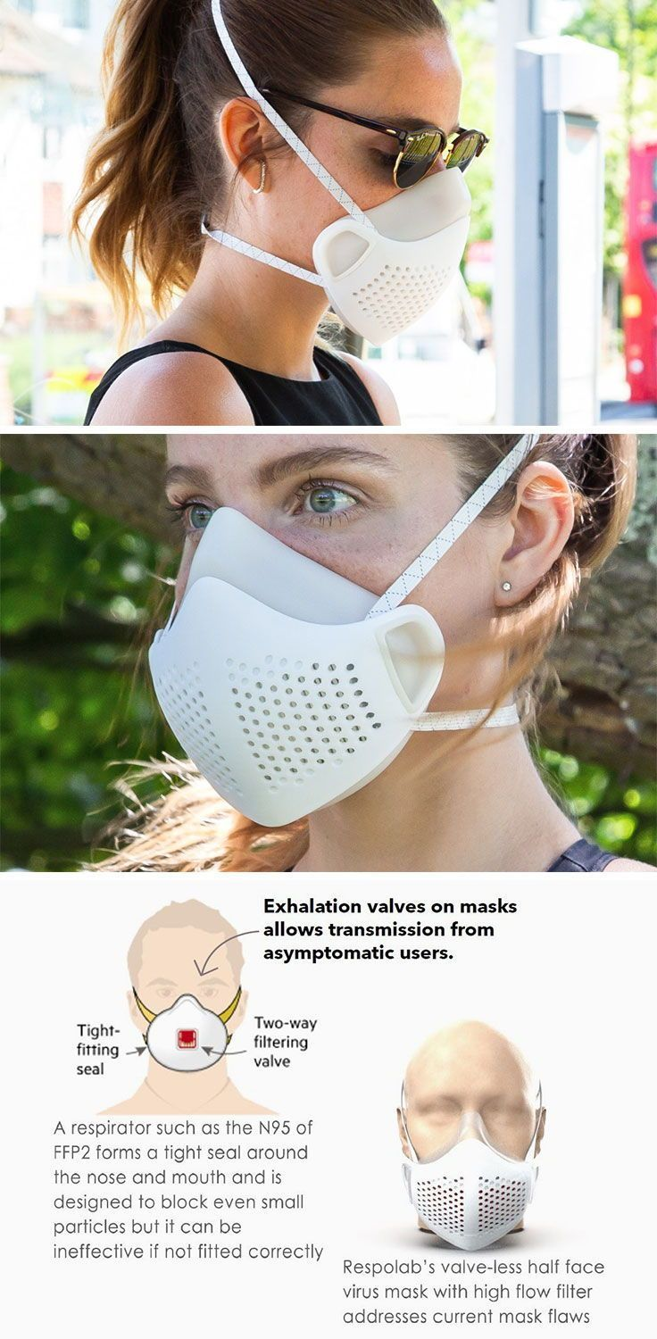 This reusable face mask users a pleated heap filter to let