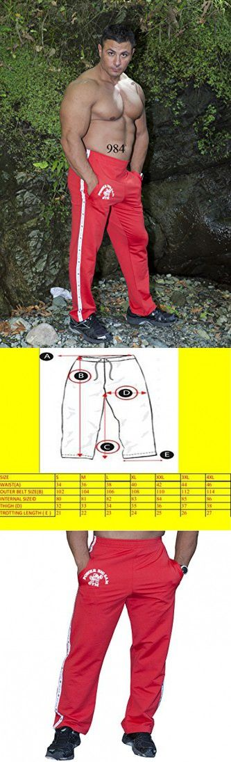 BIG SAM SPORTSWEAR COMPANY Men's Baggy Track Pants Bodypants *984* S Red