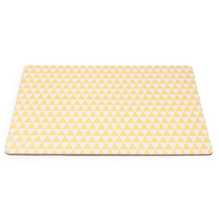 Set de table � motifs en bois jaune GRAPHIQUE   - Vendu par 6