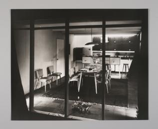 90/1030 Photographic print, black and white, 'House of Tomorrow', paper, Wolfgang Sievers, Melbourne, Victoria, Australia, 1949 [printed 1990] - Powerhouse Museum Collection