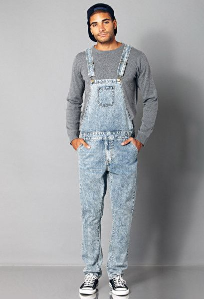 Diesel clothing looking boys | 21men Classic Denim Overalls in Blue for Men (Denim washed)