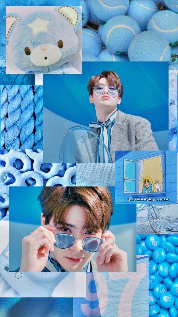 Jaehyun with blue💙 | Wallpaper lucu, Kartun disney ...