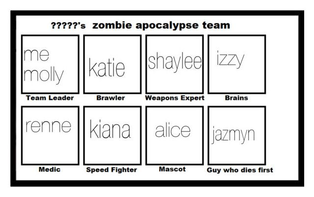 """""""my zombie fighting team"""" by netball-272 ❤ liked on Polyvore featuring women's clothing, women's fashion, women, female, woman, misses and juniors"""