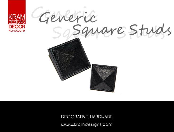 Square Generic studs from Kram Designs Decor Hardware. www.kramdesigns.co.za