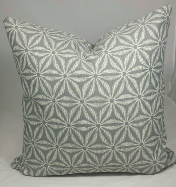 Sale Indoor/Outdoor White and Grey cushion cover.  Multiple
