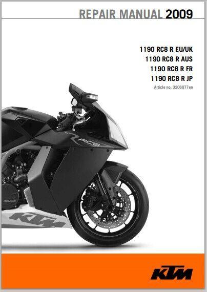 ktm 1190 rc8 r workshop service repair manual 2009 pdf. Black Bedroom Furniture Sets. Home Design Ideas