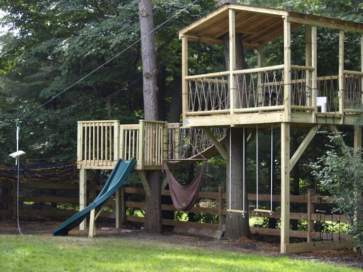 276 best boys playhouse ideas images on pinterest tree for Best backyard tree houses