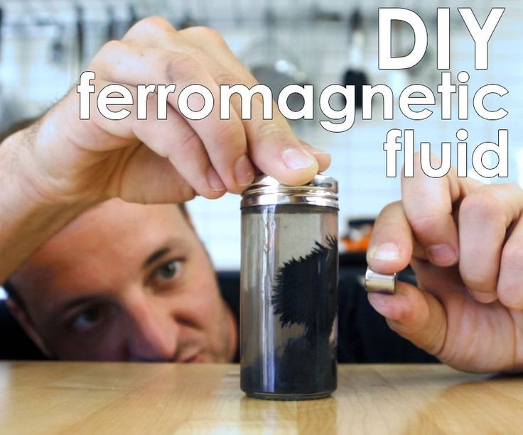 Magnetic silly putty was pretty awesome, but it's time to take it to the next level with ferromagnetic fluid! Making your own ferromagnetic fluid (ferrofluid) is super easy, and it uses the same easy to get black iron oxide powder as the magnetic putty. The best thing about ferromagnetic fluid is that there's many ways to make it. Depending what medium you add to the oxide powder it will react differently; a low viscosity medium like water will allow you to play with magnetic fields with…