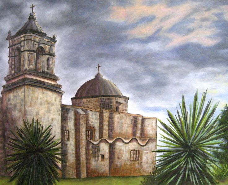 """Mission San Jose  24 x 30"""" oil on gallery wrap canvas. available"""