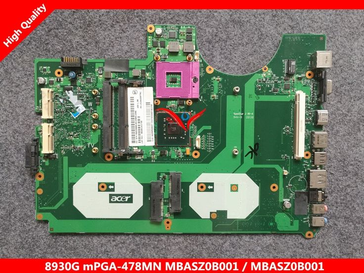 98.00$  Buy here - http://alixlm.worldwells.pw/go.php?t=32762721187 - Original laptop motherboard for ACER Aspire 8930G MBASZ0B001 6050A2207701-MB-A02 PM45 DDR3 Fully tested 98.00$