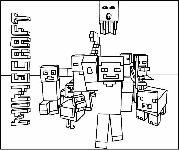 Coloriages Minecraft à imprimer et colorier in 2020