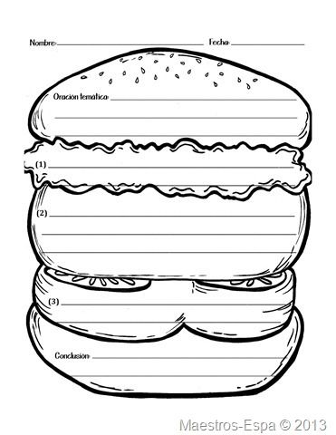 Organizador (modelo hamburguesa)