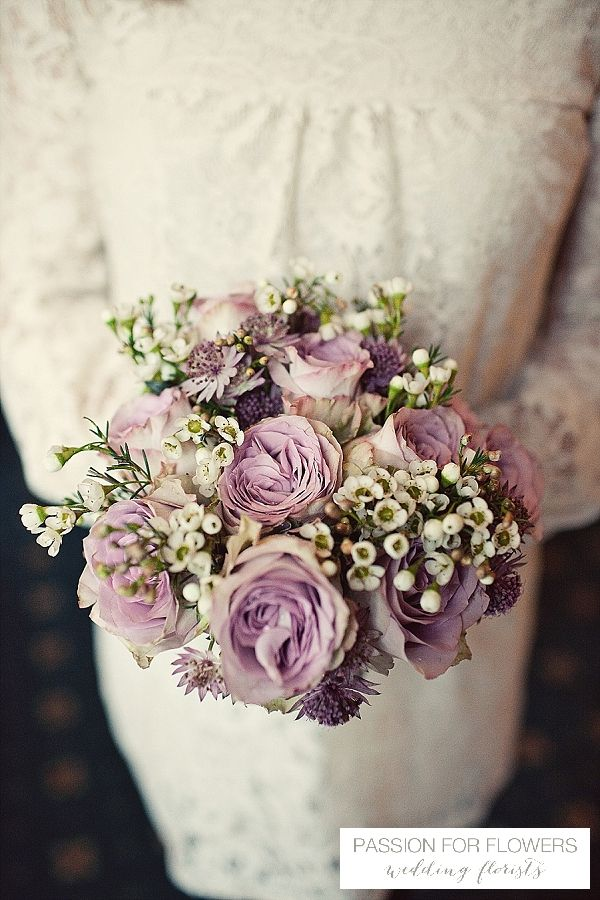 dusky pink wedding bouquet flowers  ~ florals by www.passionforflowers.net
