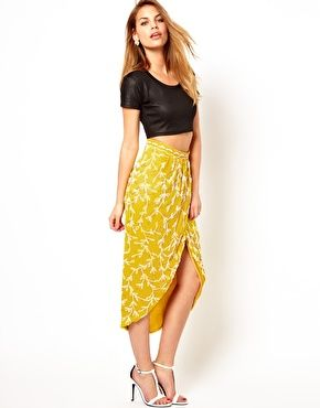 Virgos Lounge Mollie Embellished Wrap Midi Skirt