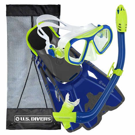 U.S. Divers Youth Snorkel Set, Blue & Yellow