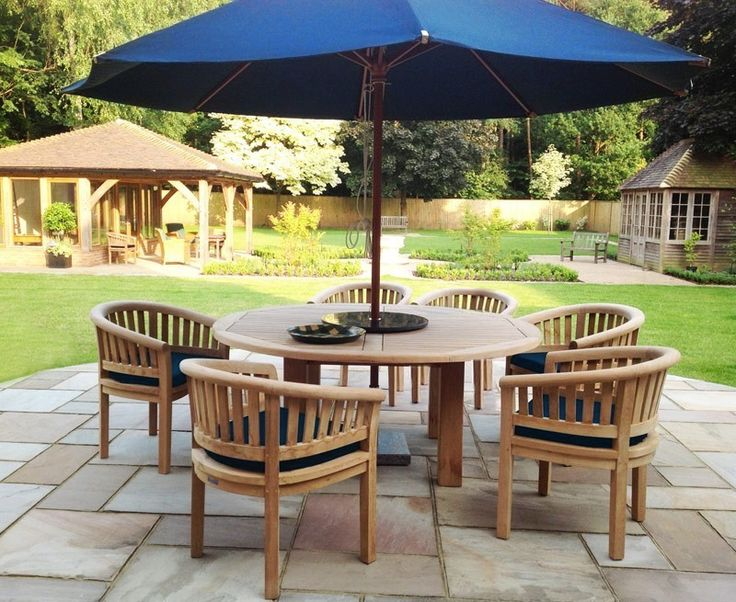 titan robust round 6 seater patio dining set - Garden Furniture 6 Seater Round