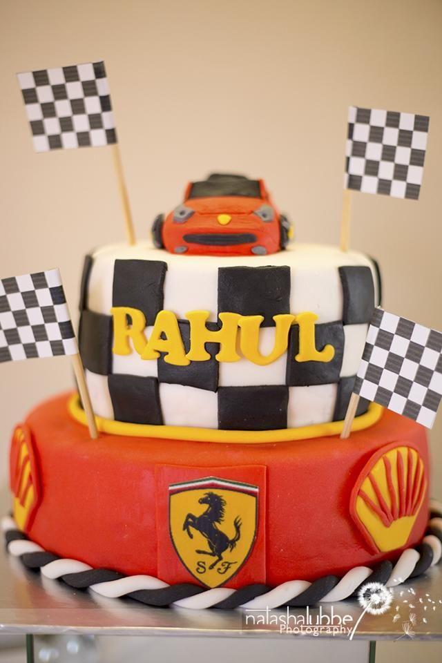 Ferrari Boys Birthday Party   Ferrari birthday cake