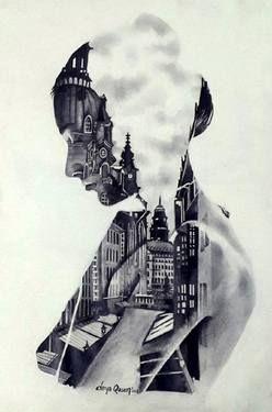 "Saatchi Art Artist Derya QASEM; Drawing, ""Motherland"" #art"