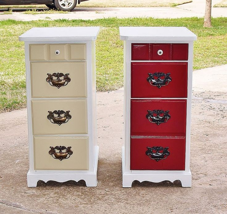 Repurpose and Recycle of Desk (cut off the middle of the top and you've got 2 end tables)