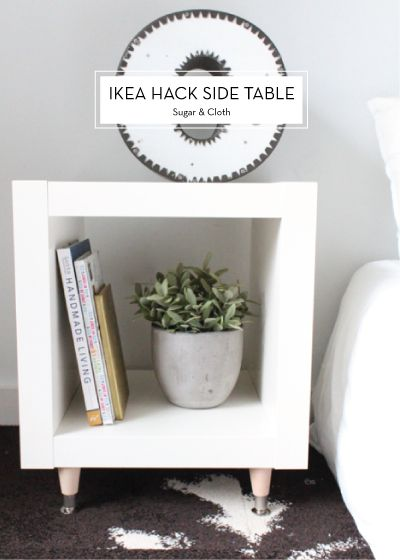 Ikea Hack Side Table - that's just what I need: on a budget and looks better then the ones in the stores.