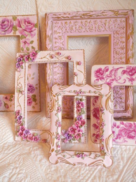 large pink  frame lot of 11