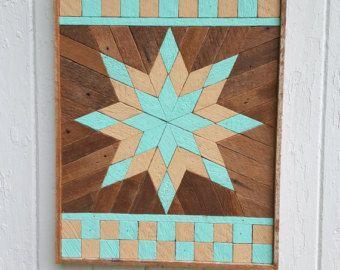 Reclaimed Wood Wall Art Lath Art Gift Ideas Starburst Square