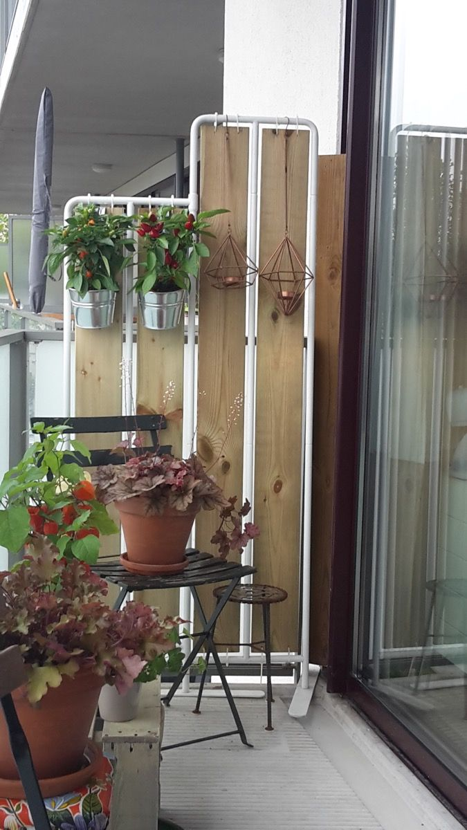 I Have Transformed The Ikea Socker Plant Stand To Create Some Privacy On My Balcony