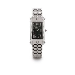 This Elle watch is elegant and sophisticated, and has the dramatic interest and appeal that makes it a favorite of women. The dramatic contrast between the rectangular, black mother of pearl dial, the sparkling Swarovski Crystals and the silver tone of the stainless steel bracelet commands the interest and attention that you want. It also looks much more expensive than it actually is, which is a nice bonus.