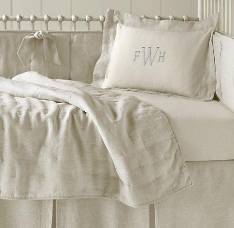 Washed Organic Linen Nursery Bedding Collection | Nursery Bedding Collections | Restoration Hardware Baby & Child