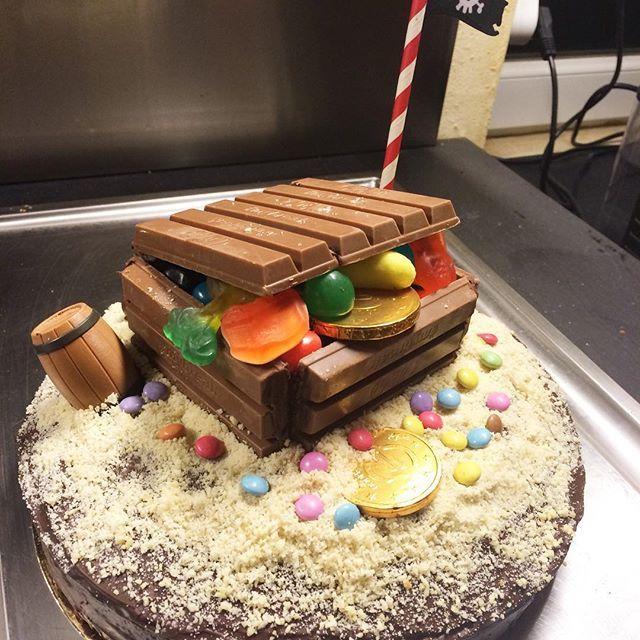 Gâteau trésor  Pirates Party ☠ #pirates #anniversaire #4ans #birthday #diy