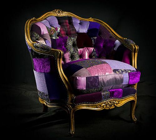 Beautiful Remnant Fabric chair - what a beautiful chair! i need this for my room!